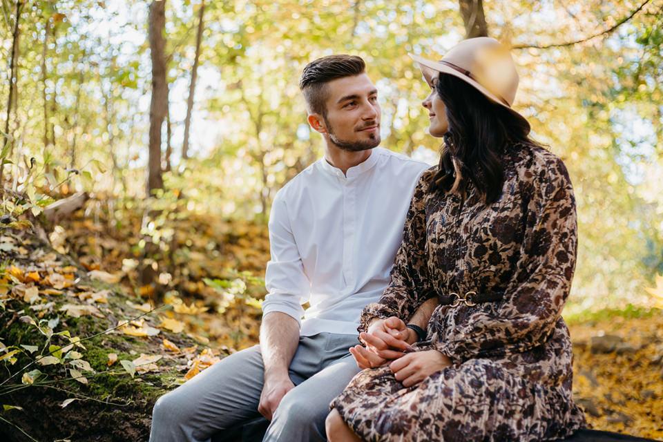 Jesienna Sesja Narzeczeńska 35 - Sesja Narzeczeńska Klaudii i Kamila
